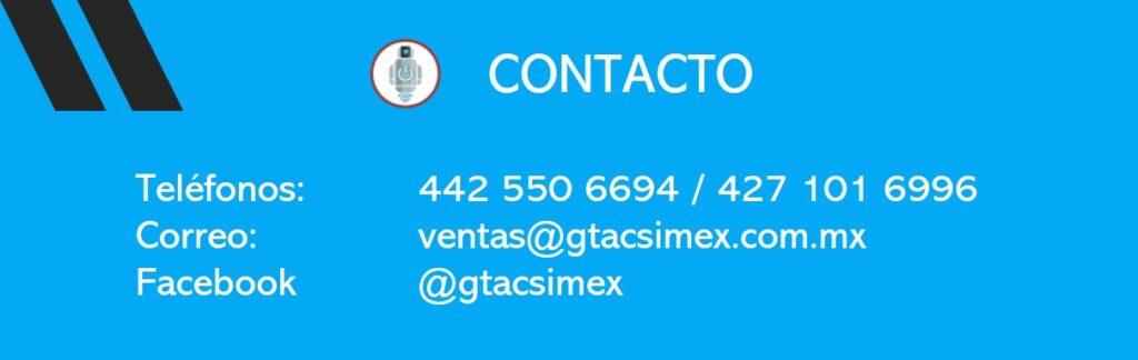 Telefonos, correo y facebook de Tacsimex.
